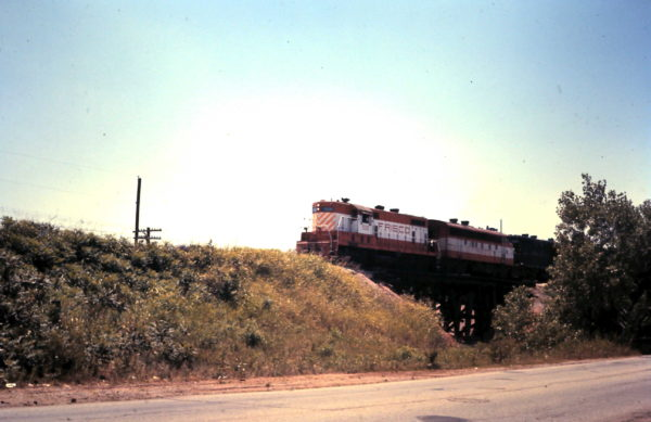 GP7 508 leads a train (date and location unknown)
