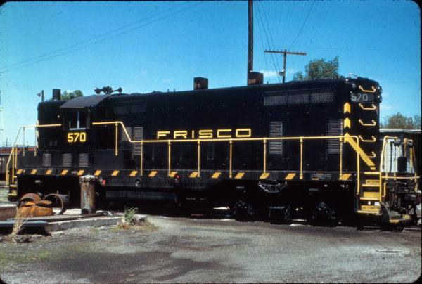 GP7 570 at Amory, Mississippi on April 16, 1961