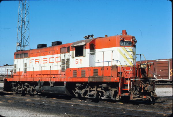 GP7 618 at Kansas City, Missouri on June 12, 1976 (James Primm)