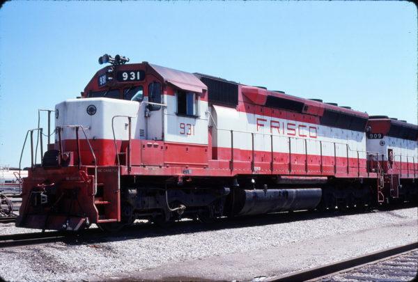 SD45 931 at Tulsa, Oklahoma in May 1978 (John Nixon)