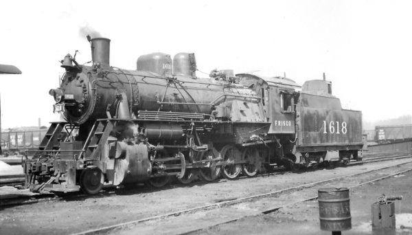 2-10-0 1618 at Monett, Missouri on February 29, 1948 (Arthur B. Johnson)