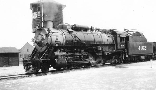 2-8-2 4162 at Claremore, Oklahoma on September 18, 1947 (Arthur B. Johnson)