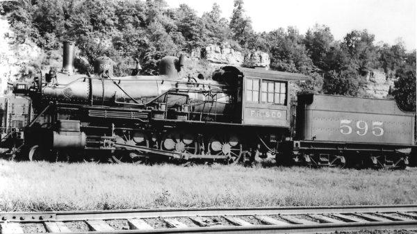 4-6-0 595 at Chaffee, Missouri on July 30, 1935 (Arthur B. Johnson)