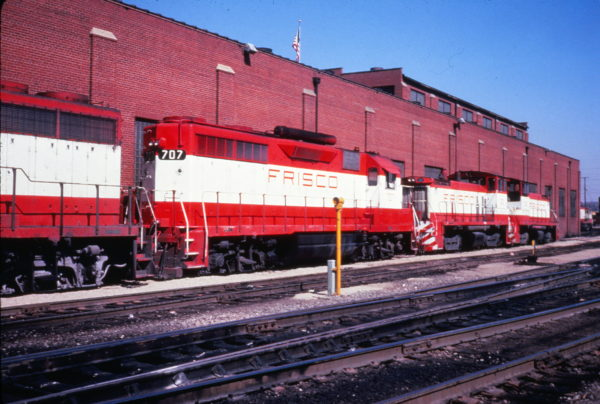 GP35 707 and SW1500 322 at St. Louis, Missouri on March 22, 1980 (R.L. Ragsdale)