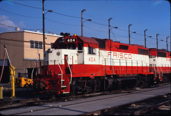 GP38-2 404 at Tulsa, Oklahoma on June 21, 1980 (J. Harlen Wilson)