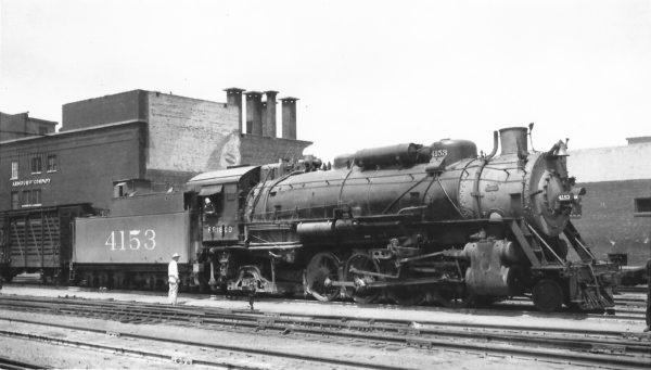 2-8-2 4153 at Tulsa, Oklahoma on June 28, 1947 (Arthur B. Johnson)