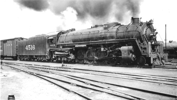 4-8-4 4516 leaving Springfield, Missouri on April 17, 1948 (Arthur B. Johnson)