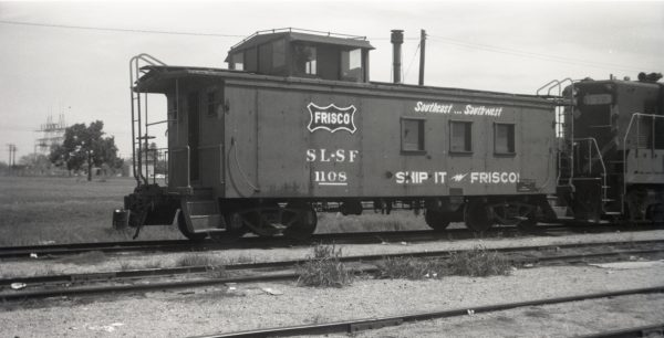 Caboose 1108 at Irving, Texas on August 3, 1968