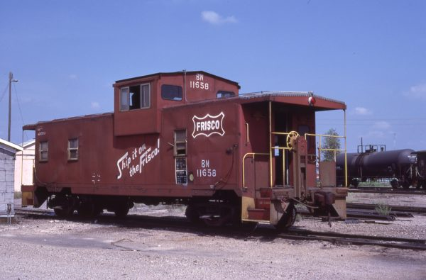 Caboose 11658 (Frisco 1428) at Neodesha, Kansas on September 11, 1982 (Allen Ramsey)