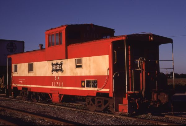 Caboose 11711 (Frisco 1776) at Wichita, Kansas on September 7, 1981 (Allen Ramsey)