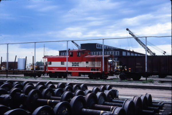 Caboose 1204 at Cheyenne, Wyoming on July 21, 1979
