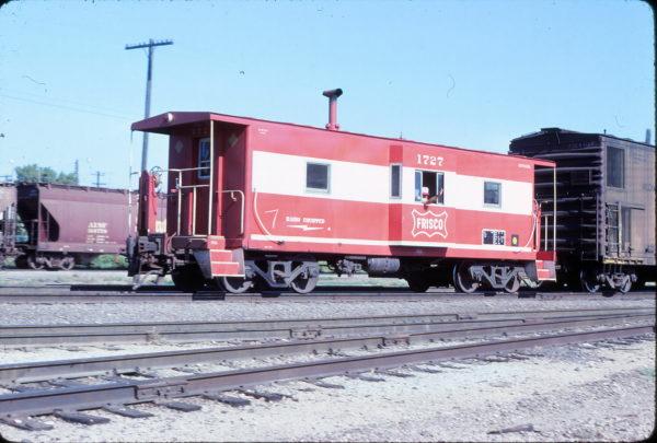 Caboose 1727 at Topeka, Kansas on September 20, 1980 (George Menge)