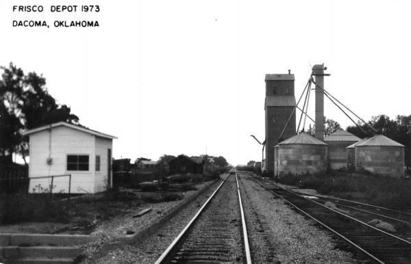 Dacoma, Oklahoma Depot in 1973