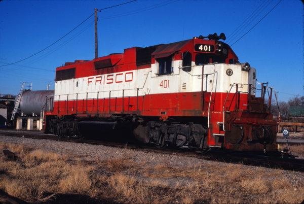 GP38-2 401 at Enid, Oklahoma on December 17, 1980