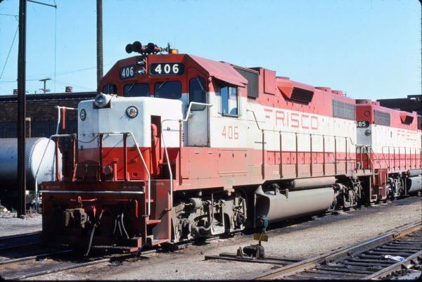 GP38-2 406 (location unknown) in May 1976