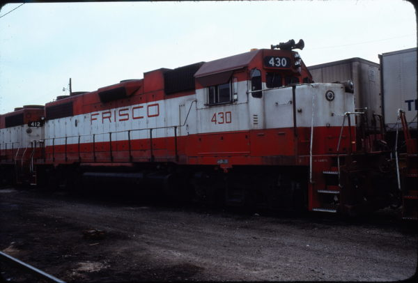 GP38-2 430 at Oklahoma City, Oklahoma in November 1978