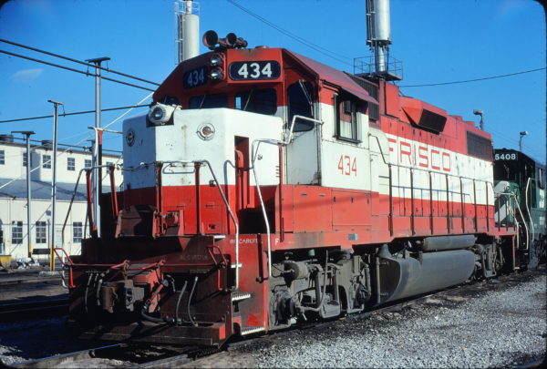 GP38-2 434 at Memphis, Tennessee in February 1981 (Lon Coone)