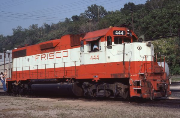 GP38-2 444 at Kansas City, Missouri on August 27, 1980 (J.H. Wilson)
