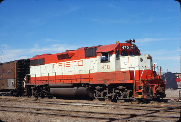 GP38-2 470 at Stroud, Oklahoma on March 5, 1978 (James Holder)