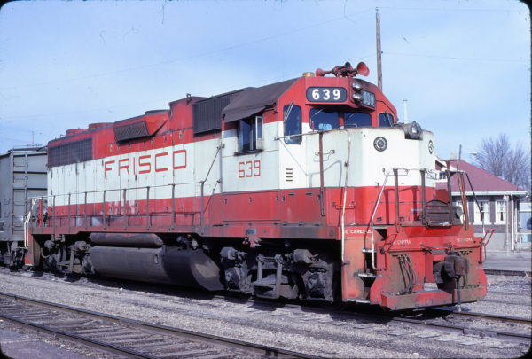 GP38AC 639 at Carthage, Missouri on December 28, 1980