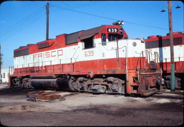 GP38AC 639 at Dallas, Texas in November 1978
