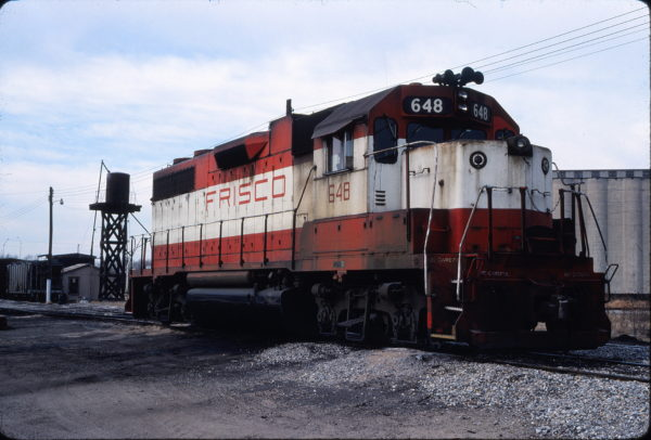 GP38AC 648 at Enid, Oklahoma in January 1981