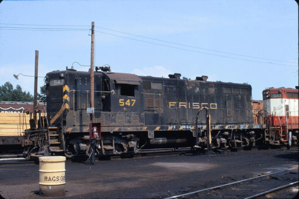 GP7 547 at Amory, Mississippi (date unknown)