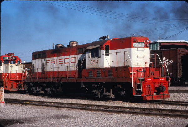 GP7 594 at Fort Smith, Arkansas in May 1978 (Gregory Sommers)