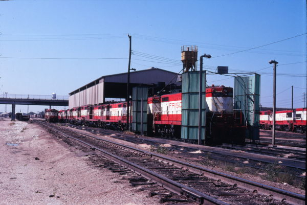 GP7s 521 and 565 at Springfield, Missouri in September 1978