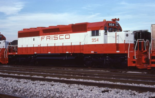 SD40-2 954 at Hazel Crest, Illinois on July 16, 1978