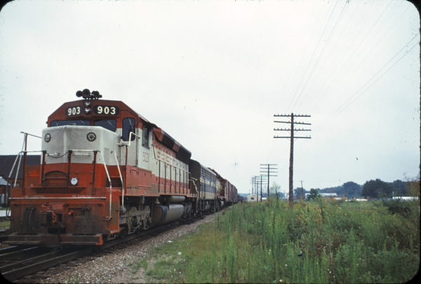 SD45 903 at Monett, Missouri in August 1968