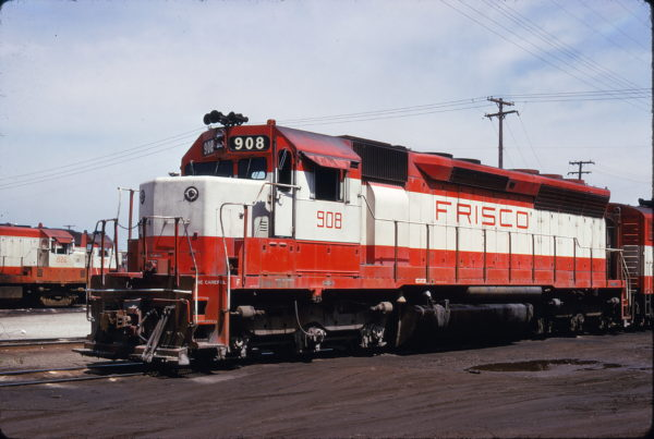SD45 908 at Kansas City, Missouri on May 25, 1974 (James Primm II)