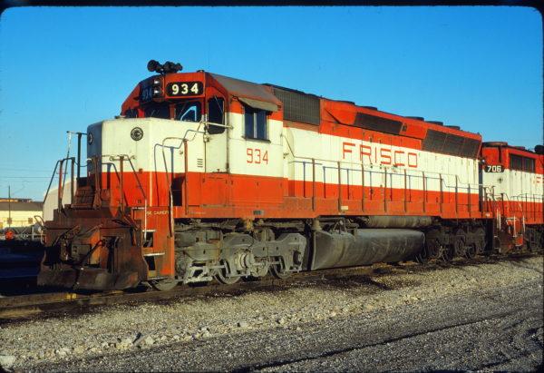 SD45 934 at Tulsa, Oklahoma on November 29, 1980 (David Stray)