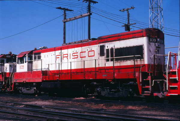 U30B 839 at Springfield, Missouri in September 1978