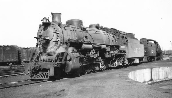 2-8-2 4119 at Monett, Missouri on February 29, 1948 (Arthur B. Johnson)