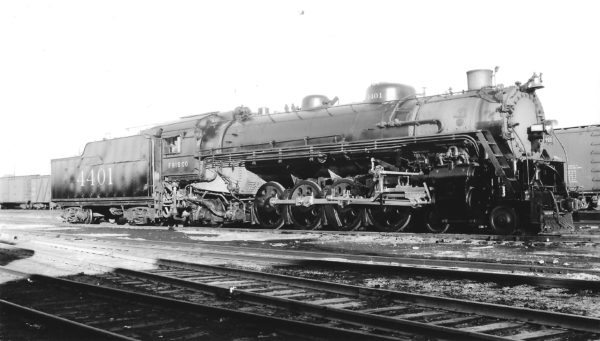4-8-2 4401 at St. Louis, Missouri on October 22, 1939 (Arthur B. Johnson)
