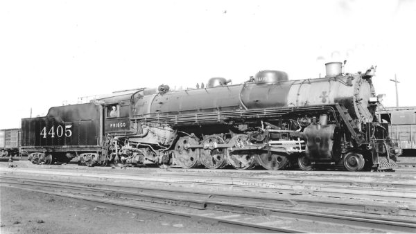 4-8-2 4405 at St. Louis, Missouri in May 1946 (Arthur B. Johnson)