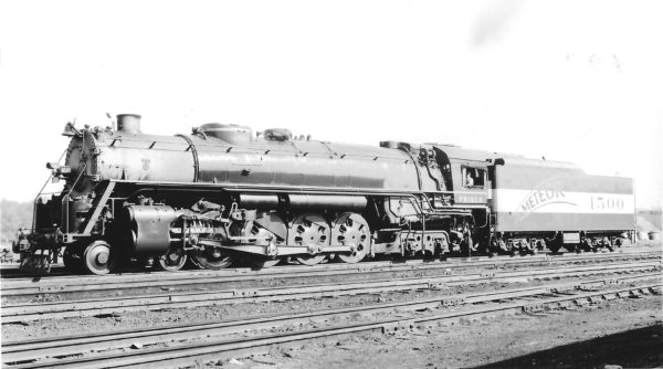 4-8-4 4500 at St. Louis, Missouri in November 1944 (Arthur B. Johnson)