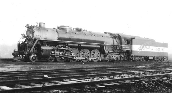 4-8-4 4501 at St. Louis, Missouri in January 1945 (Arthur B. Johnson)
