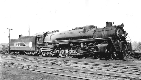 4-8-4 4522 at St. Louis, Missouri on March 3, 1944 (Arthur B. Johnson)
