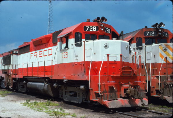 GP35s 728 and 712 at Birmingham, Alabama on June 21, 1975 (Bill Folsom)