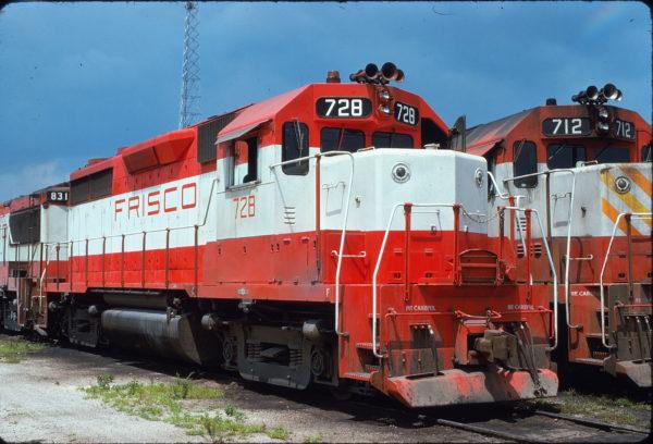 GP35s 728 and 712 at Birmingham, Alabama on June 21, 1975 (Bill Folsom)