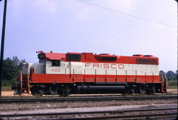 GP38-2 405 at Greenwood, South Carolina in October 1979