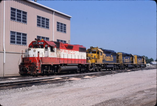 GP38-2 475 at Tulsa, Oklahoma on May 24, 1980 (Allen Clum)