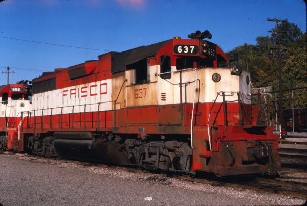 GP38AC 637 at Kansas City, Missouri on October 23, 1978 (Jim Wilson)