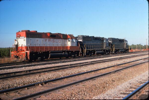 GP38AC 643 at Hamlet, North Carolina in December 1974 (R.J. Robl)