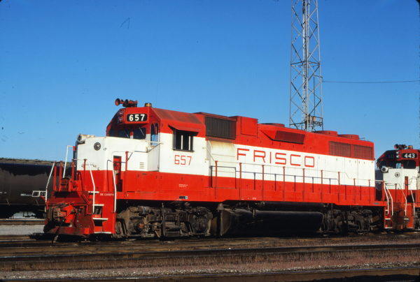 GP38AC 657 at Kansas City, Missouri on October 25, 1980 (James Primm II)