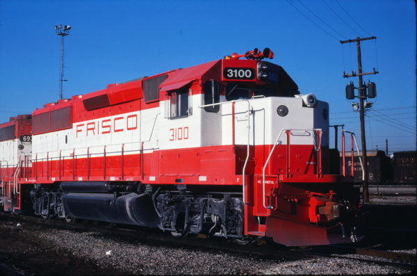 GP50 3100 at Memphis, Tennessee in January 1981 (Steve Forrest)