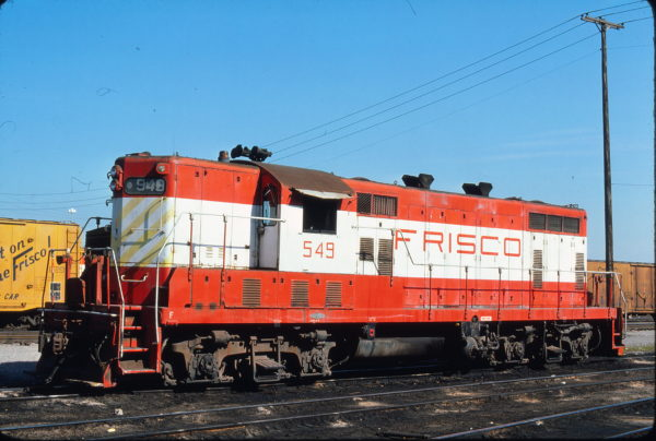 GP7 549 at Kansas City, Missouri on July 19, 1976 (James Primm)