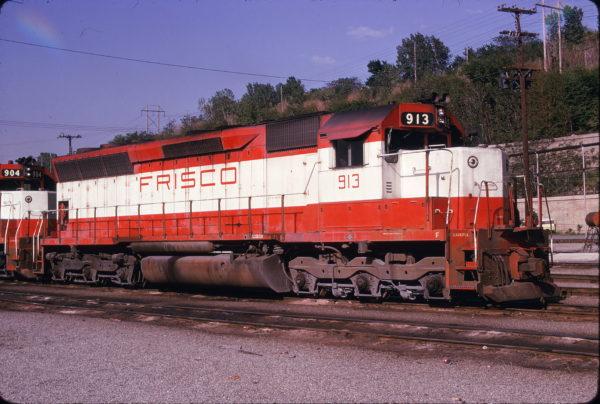 SD45 913 at Kansas City, Missouri on May 7, 1975 (James Primm)